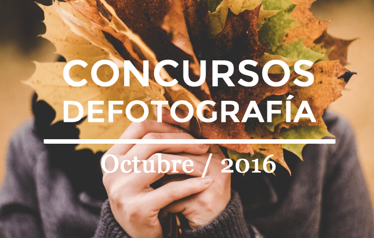 Los mejores concursos de fotografía de Octubre 2016