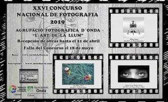 """XXVI Concurso Nacional de Fotografía 2019 """"L'Art de la Llum"""""""