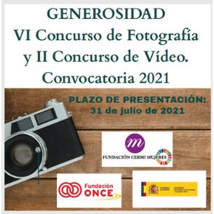 """VI Concurso de Fotografía """"Generosidad"""" 2021"""
